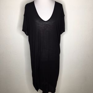 Rick Owens Black T Shirt Short Sleeve Dress Size 8